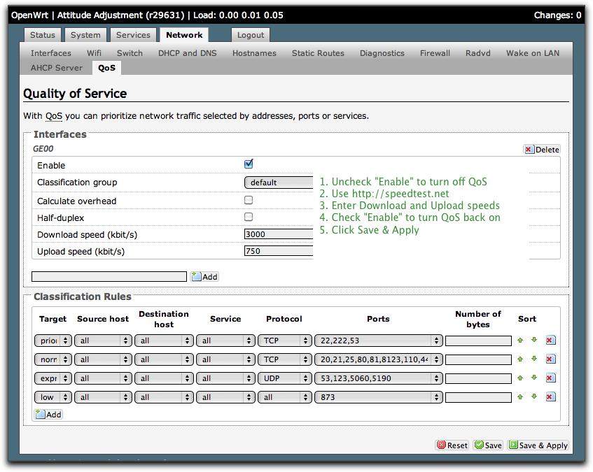 Cerowrt router configuration - Bufferbloat net
